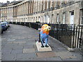 ST7465 : Plastic lion in front of Royal Crescent  by Paul Gillett