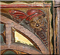 TG0512 : St Mary's church in North Tuddenham - C15 rood screen (detail) by Evelyn Simak