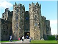 NU1813 : Alnwick Castle - towers of the keep by Rose and Trev Clough