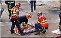 J3474 : Lagan weir, Belfast - rescue exercise (2) by Albert Bridge