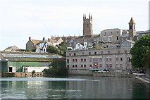 SW4730 : Penzance inner harbour at high tide by Rod Allday