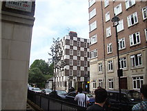 TQ2978 : Checkerboard building on Vincent Street, Pimlico by Robert Lamb