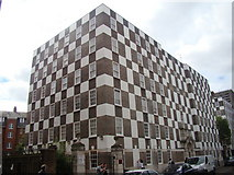 TQ2978 : Checkerboard building on Vincent Street, Pimlico #2 by Robert Lamb