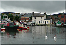 SO8453 : Diglis Basin, Worcester by Roger  Kidd