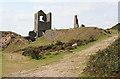 SX2669 : St Cleer: towards Holman's engine house, South Caradon Mine by Martin Bodman