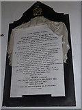 TM3973 : St Andrew's Bramfield:  memorial (3) by Basher Eyre
