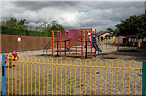 NT5247 : A play area at Crofts Road, Lauder by Walter Baxter
