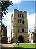 TL8564 : The Norman Tower, Bury St Edmunds by Evelyn Simak