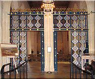 TL8564 : St Edmundsbury cathedral, Bury St Edmunds - Lady Chapel screen by Evelyn Simak