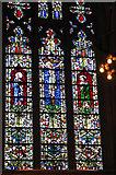 TL8564 : St Edmundsbury cathedral, Bury St Edmunds - Lady Chapel window by Evelyn Simak