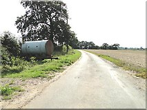 TF9608 : Water bowser beside the road at Thorpe Row by Adrian S Pye