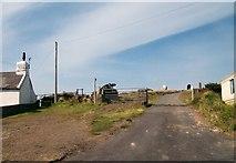 SH1727 : Farm lane to Hendre Uchaf by Eric Jones