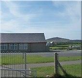 SH1726 : The yard of Ysgol Crud y Werin, Aberdaron by Eric Jones