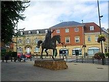 SP4540 : The 'Fine Lady' monument near Banbury Cross by James Denham