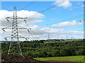 SE1021 : High voltage power lines over Calderdale by Stephen Craven