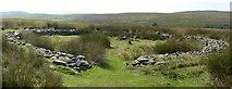 SK2775 : Barbrook II stone circle, Big Moor, Derbyshire by Graham Hogg