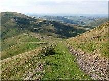 NT8524 : Pennine Way below Steer Rig by Oliver Dixon