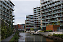 SJ8297 : Apartments overlooking the Bridgewater Canal by Bill Boaden