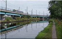 SJ8196 : High-rise tramline at Pomona by Bill Boaden