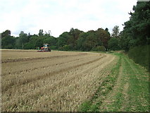 TL9558 : Stubble Field by Keith Evans