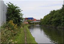 SJ7996 : The Bridgewater Canal at Trafford Park by Bill Boaden