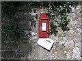 SO5197 : VR post box, with temporary residents by Hywel Williams