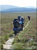 NT8818 : Young (and heavily laden) Pennine Way walkers at Score Head by Oliver Dixon