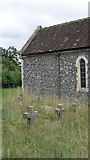 TM4077 : St. Peter, Holton: crosses in the churchyard by Basher Eyre
