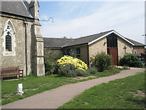 TM2850 : Melton, St Andrew: church hall by Basher Eyre