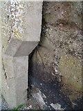 SH4862 : Benchmark at junction of Rhes Segontiwm  & Stryd Garnon, Caernarfon by Meirion