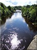 NZ0416 : River Tees at Barnard Castle by John Tustin