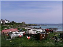 NM2824 : Boats on the Shore of Iona by Hilmar Ilgenfritz