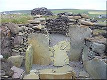 HU4841 : Cruester Burnt Mound, Bressay by Colin Smith