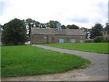 SK4663 : Hardwick Hall: Stables and stableyard by Nigel Cox