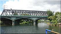 TL1998 : Railway Bridge Peterborough by Mike Todd