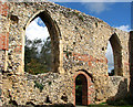 TG1709 : The ruined St Michael's church in Bowthorpe - chancel north wall by Evelyn Simak