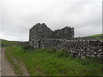 SD8172 : Derelict Barn beside Pennine Way by Anthony Parkes