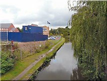 SJ9495 : Peak Forest Canal from Manchester Road Bridge by Gerald England
