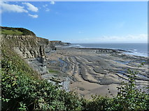 SS8872 : Coastline at low tide, south of Dunraven Bay by Ruth Sharville