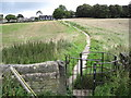 SK3099 : Paved footpath from Cote Green to Wortley by Chris Wimbush