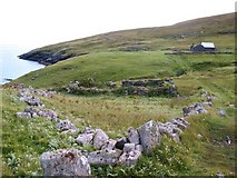 NL5682 : Old house and enclosure by Gordon Hatton