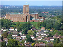 SU9850 : Guildford Cathedral from Guildown by Colin Smith