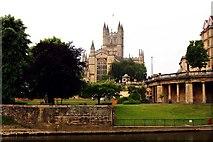 ST7564 : Bath Abbey over the River Avon by Steve Daniels