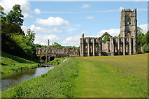 SE2768 : Fountains Abbey and the River Skell from the East by Matthew Bristow