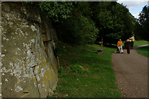 SE2768 : Pivot Bench Mark, Fountains Abbey by Mark Anderson