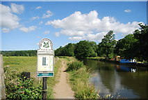 SU9946 : Towpath north along the River Wey by N Chadwick