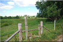SU9946 : Stile by the Wey towpath by N Chadwick
