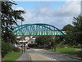 NZ1953 : Bridge carrying railway path by Trevor Littlewood