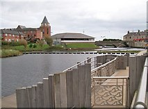 J3731 : The new landing stage at the Castle Island Boating Park by Eric Jones