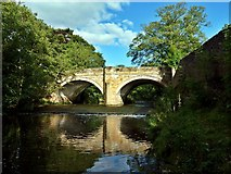 NZ4706 : Bridge of River Leven, Hutton Rudby by Paul Buckingham